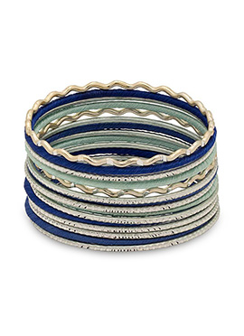 Green N Blue Thread Bangles