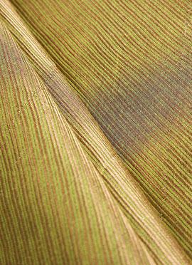 Green N Brown Art Silk Fabric