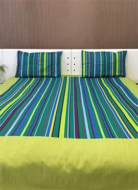 Green N Multicolored Pure Cotton Bed Spread