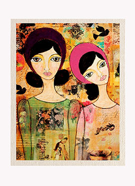 Green N Pink Girls Canvas