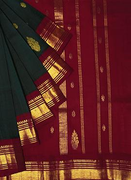 Pothys Green N Pink Pure Kancheepuram Silk Saree