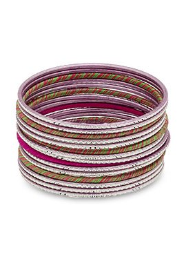 Green N Pink Thread Bangles