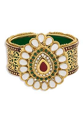 Green N White Colored Bracelet
