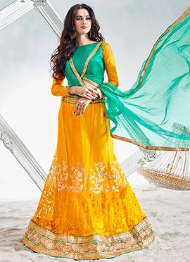 Green N Yellow Lehenga Choli