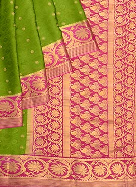 Green Pure Mysore Silk Saree