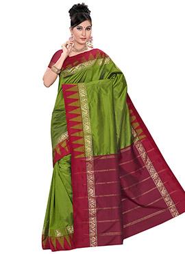 Green Pure Kancheepuram Silk Border Saree