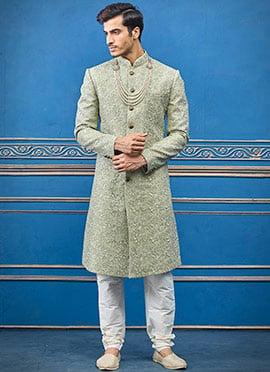 Buy Green Color Sherwanis | Online Green Colour Sherwanis | Designer Green  Sherwanis