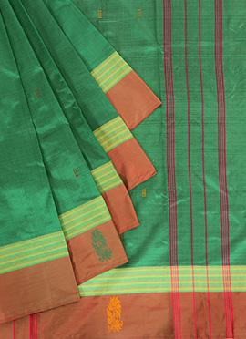 Green Pure Silk Pothys Saree