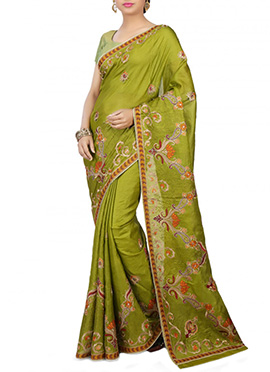 Green Pure Silk Saree