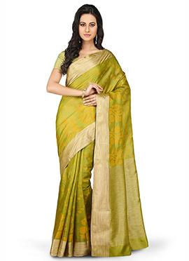 Green Pure Silk Saree
