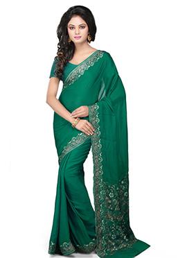 Green Pure Silk Woven Saree