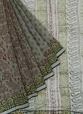 Green Shade Cotton Saree