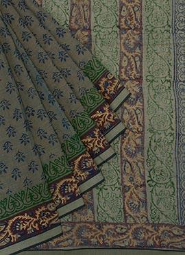 Green Shade Printed Saree