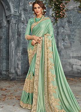 Green Shimmer Saree