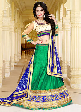 Green Silk Lehenga Choli