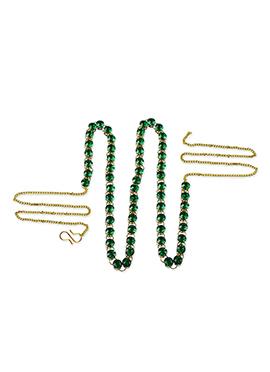 Green Stone Studded Saree Belt