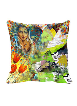 Green Village World Girl Polyester Cushion Cover