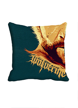 Green Wolverine Polyester Cushion Cover