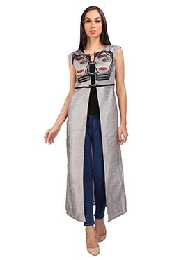 Grey Art Dupion Silk Jacket