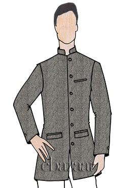 Grey Bandhgala Jacket