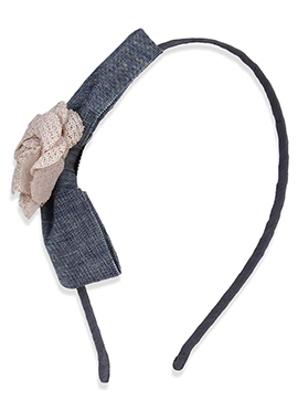 Grey Color Bow Style Hair Band