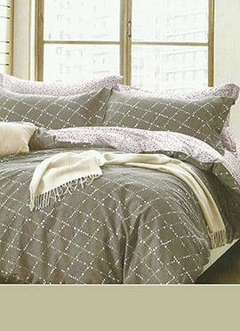 Grey Cotton Bed Sheet