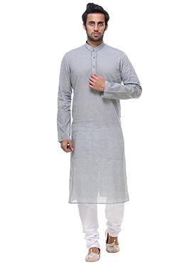 Grey Cotton Kurta Pyjama