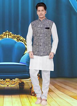 Grey Cotton Nehru Jacket