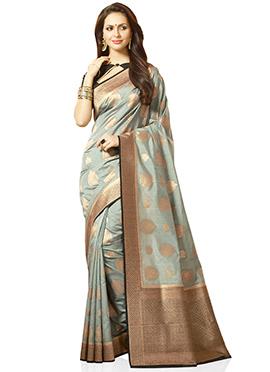 Grey Kancheepuram Silk Saree