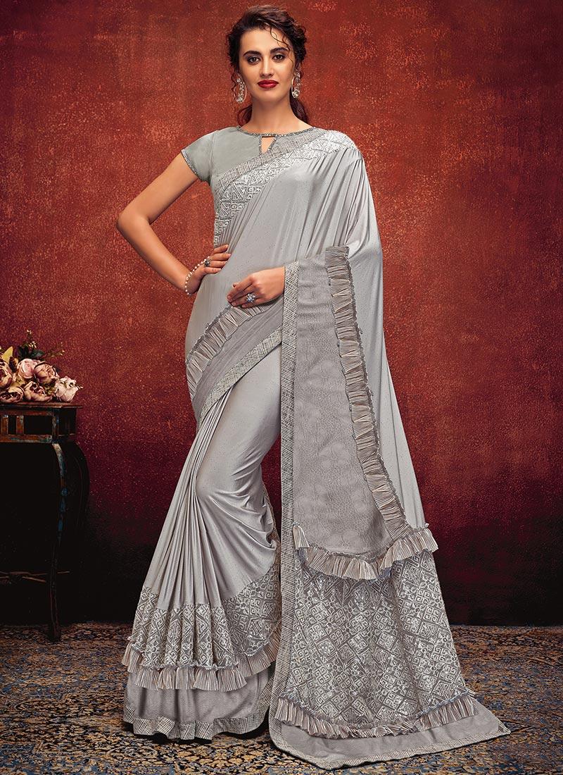 Saree sari tradition India Frill party wedding blouse readymade stitch choli