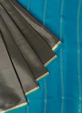 Grey Mysore Pure Silk Saree
