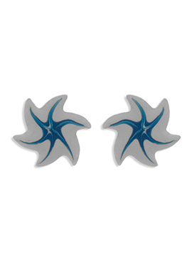 Grey N Blue Colored Studs