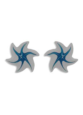 Grey N Blue Colored Studs