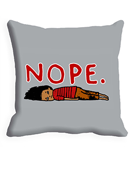 Grey NOPE Cushion Cover