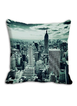 Grey Old City Cushion Cover