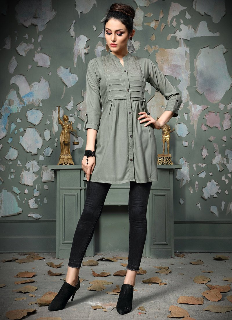 81939129178 Buy Grey Plain Tunic, After Six, tops and tunics Online Shopping ...