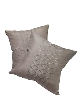 Grey Polyester Cushion Cover