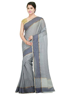Grey Printed Saree