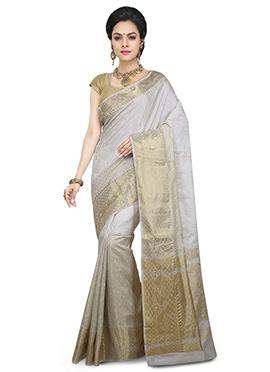 Grey Pure Silk Saree