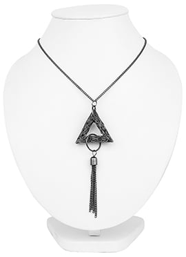 Grey Triangle Design Necklace