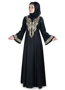 Hifza Rayon Black Abaya