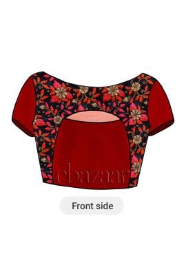 High Risk Red Dupion Silk Blouse