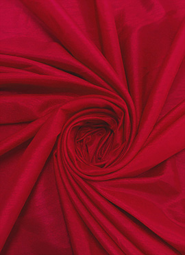 High Risk Red Dupion Silk Fabric
