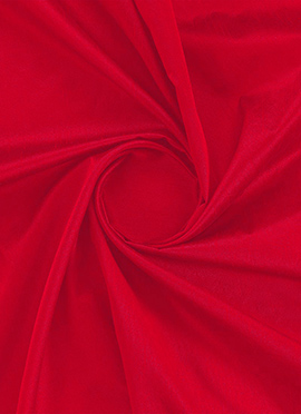 High Risk Red Dupion Silk Fabric