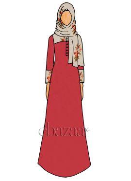 High Risk Red Georgette Abaya