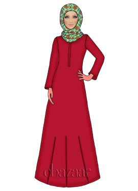 High Risk Red N Light Green Georgette Abaya