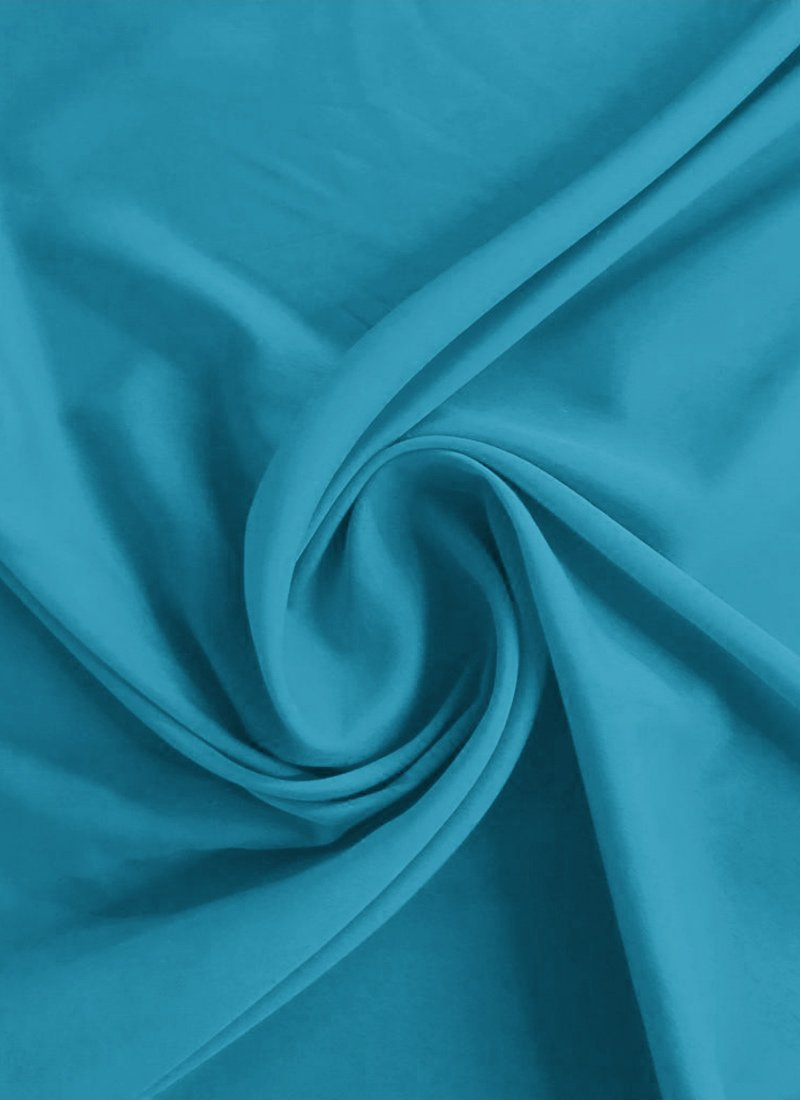 buy horizon blue crepe fabric  faux crepe  blended solids