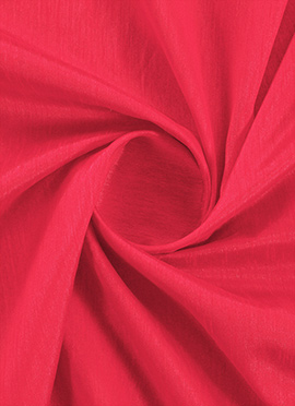 Hot Coral Raw Silk Fabric