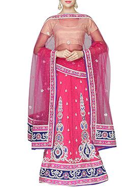 Hot Pink Embellished Lehenga Choli