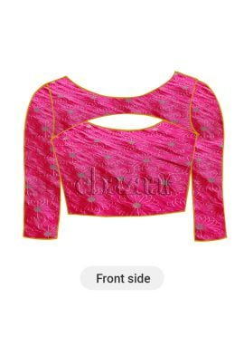 Hot Pink Paper Silk Blouse